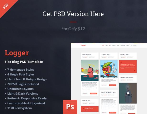 Logger - Magazine/Personal Blogging HTML Template