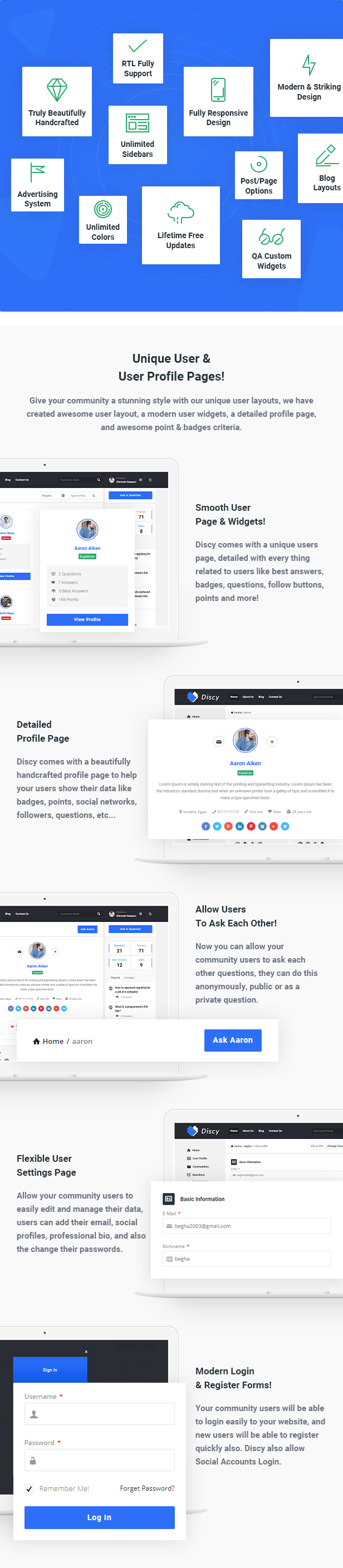 discy social questions and answers wordpress theme by 2codethemes