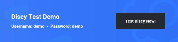 点击查看Discy主题测试演示